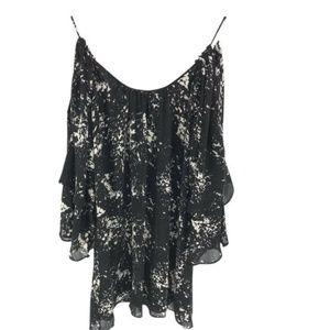 Parker Cold Shoulder Tunic Shirt Mini Dress